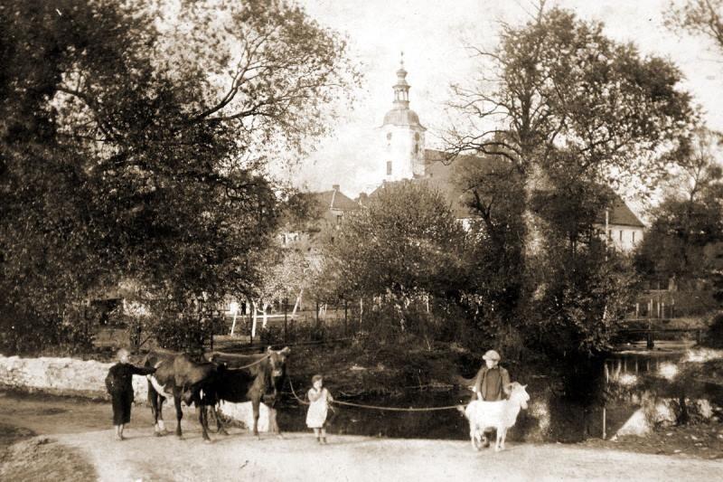 Tak wyglądała Jemielnica przed IIwojną światową. Zdjęcie...