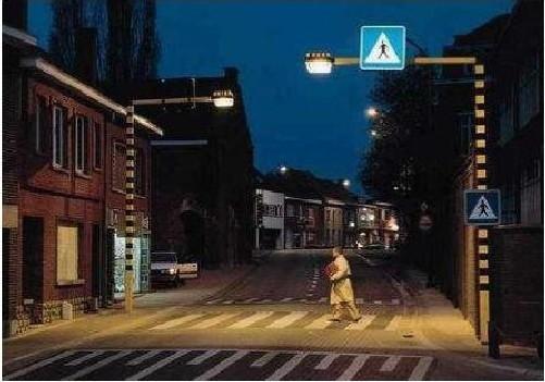 Przykład systemu oświetlenia i oznakowanie przejścia dla pieszych, który zostanie zamontowany w Ostrołęce