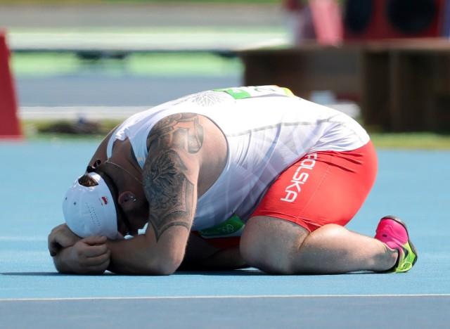 Paweł Fajdek w eliminacjach rzutu młotem podczas Igrzysk Olimpijskich w Rio