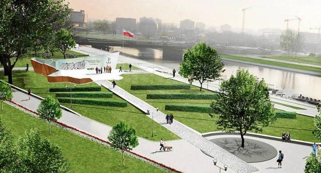 Tak miałby wyglądać pomnik Armii Krajowej w Ogrodzie Pamięci Narodowej na bulwarze Czerwieńskim