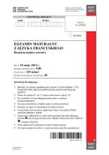 Matura 2015. Język francuski poziom podstawowy, rozszerzony LICEUM TECHNIKUM ARKUSZE CKE, ZADANIA