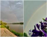 Poranna tęcza nad województwem lubelskim. Zobacz zdjęcia naszych Czytelników