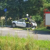 Wypadek w Brynicy. Poszkodowany 46-letni kierowca opla. Na ratunek lądował śmigłowiec LPR