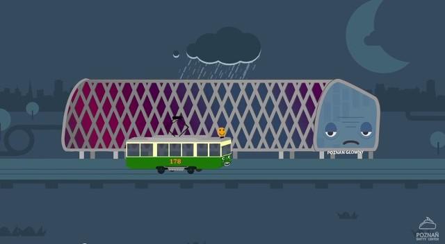 Smutny dworzec: Prześmiewcza animacja o poznańskim dworcu