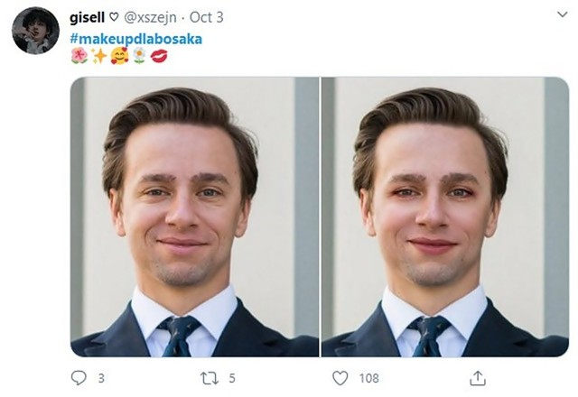 Krzysztof Bosak makijażu nie nosi. Ale internet go prosi. Zobacz memy na kolejnych slajdach galerii.Zobacz kolejne zdjęcia. Przesuwaj zdjęcia w prawo - naciśnij strzałkę lub przycisk NASTĘPNE