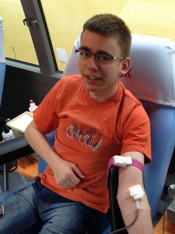 Uczniowie Zespołu Szkół Ogólnokształcących i Technicznych w Miastku chętnie oddawali krew.