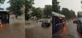 Burza nad Krakowem. Paraliż komunikacji miejskiej, zalane drogi!