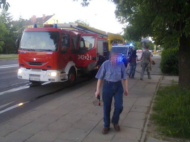 Około godz. 21 straż pożarna interweniowała przy ulicy Szczecińskiej.