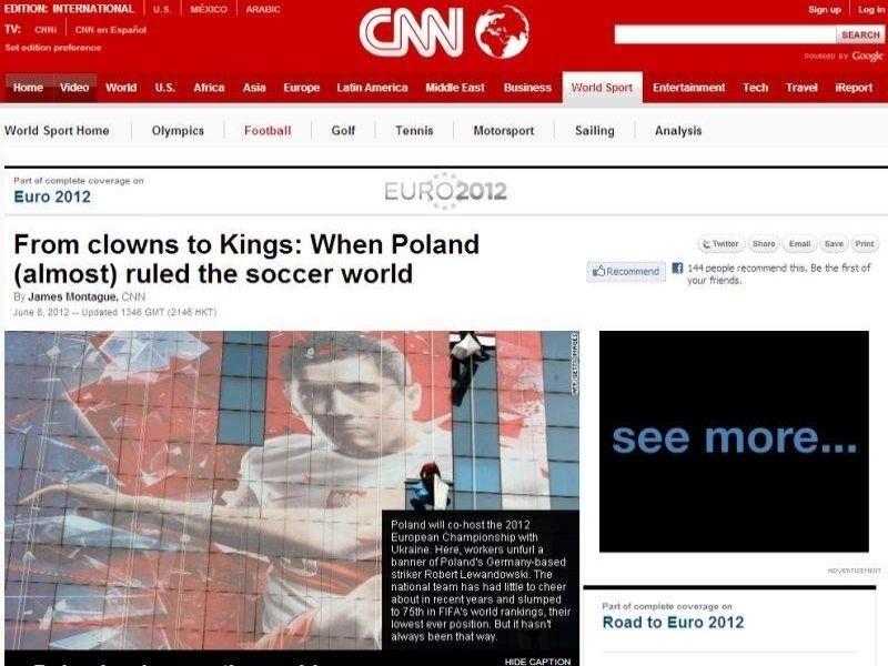 Echa naszego Euro dotarły też za ocean. Amerykanie z CNN przybliżają swoim rodakom historię piłki nożnej w Polsce.