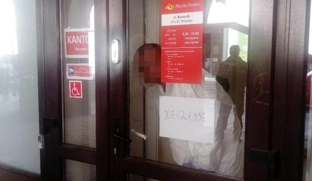 Urząd pocztowy na Ruskiej przez kilka godzin był nieczynny po napadzie, którego tam dokonano
