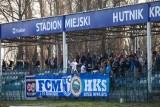 Hutnik Kraków. Kibice na meczu z Czarnymi Połaniec [ZDJĘCIA]