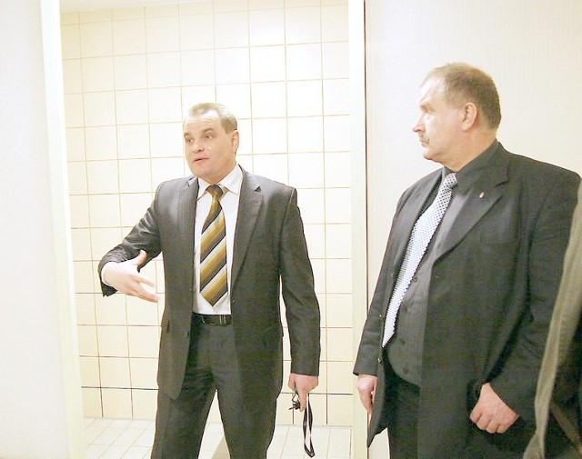 Prezes Centrum Parku Mariusz Paluch i radny Andrzej Mielke