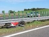 Motocyklista zginął na A4. Autostrada była zablokowana (FOTO)