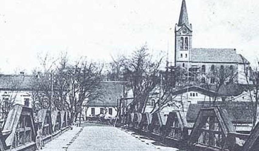Stary most w Cigacicach widok z 1900 r.