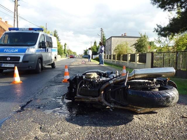 Wypadek motocyklisty w Pilchowicach