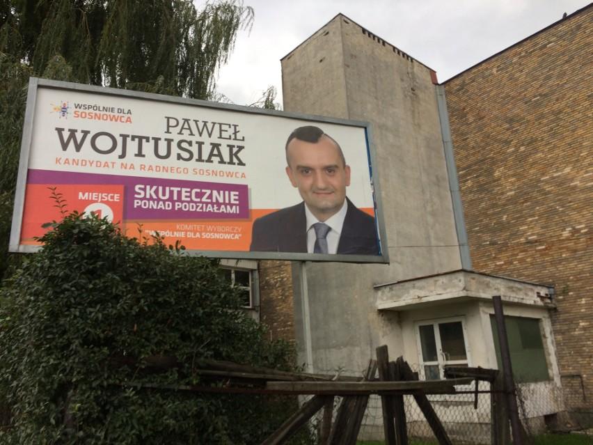 Sosnowiec Baner Wyborczy Radnego Pawła Wojtusiaka Stoi Na