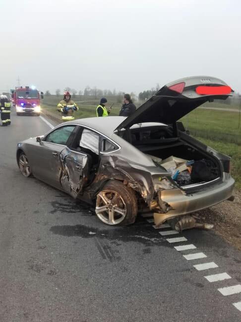 Wypadek w Janówce zablokował DK8. Trzy zastępy straży...