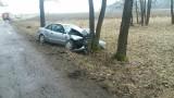 Podłatki Małe. Tragiczny wypadek przy S8. 74-letni kierowca Audi uderzył w drzewo. Zginął na miejscu