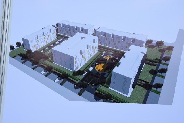 Briefing prasowy  poświęcony projektowi nowego osiedla domów komunalnych w Lipinach
