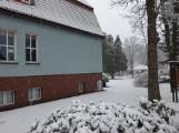 Powrót zimy do Szczecinka. Miasto zasypane śniegiem