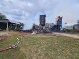 Pożar stodoły we wsi Pustkowa Góra koło Zgierza