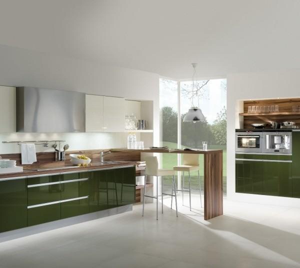 W nowoczesnej kuchni dominuje szkło, drewno i tworzywo...