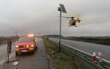 Wypadek na S8 pod Wrocławiem. Jedna osoba ranna, lądował helikopter LPR [ZDJĘCIA]