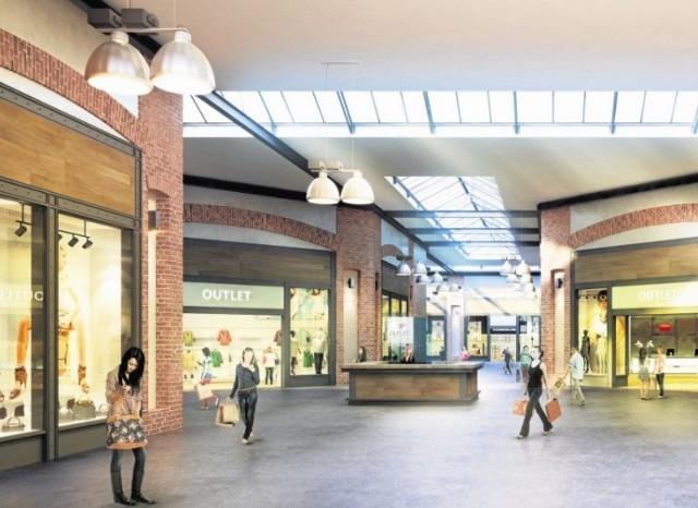Tak będą wyglądały wnętrza Outlet Center.  Obiekt zostanie oficjalnie otwarty 15 kwietnia. Ma zapewnioną wyłączność na outletowe salony Reserved, Cropp, Mohito i Sinsay na terenie Białegostoku.