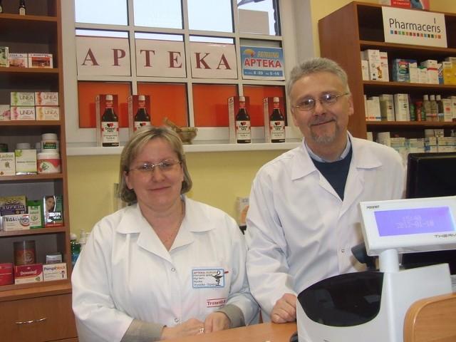 Monika Wysocka-Szpejna z mężem Tomaszem prowadzą aptekę w markecie Intermarche