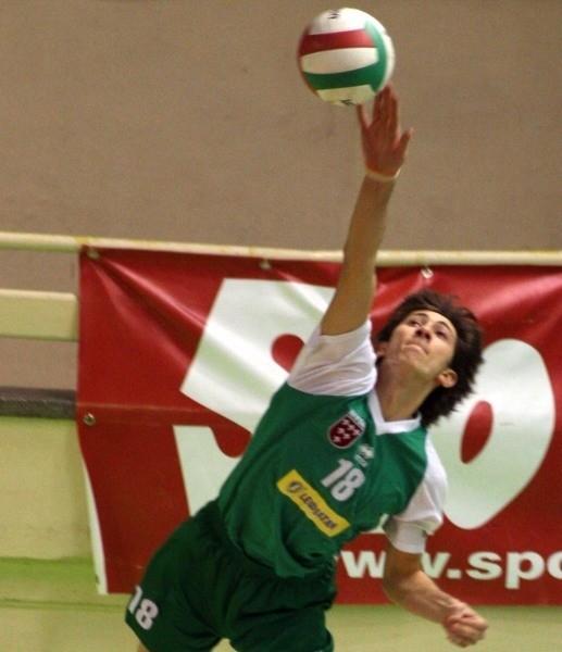 Dawid Bułkowski z drużyny AZS-u PWSZ Nysa.