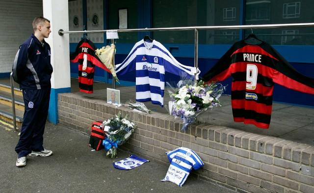 Pamięć zamordowanego piłkarza uczcili również jego klubowi koledzy