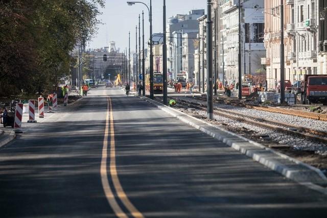 Tak obecnie wygląda ulica Narutowicza w Łodzi