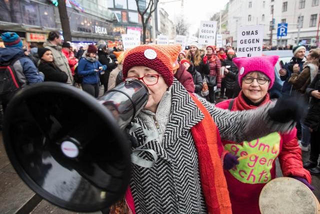 Protest przeciwko rządowi w Wiedniu
