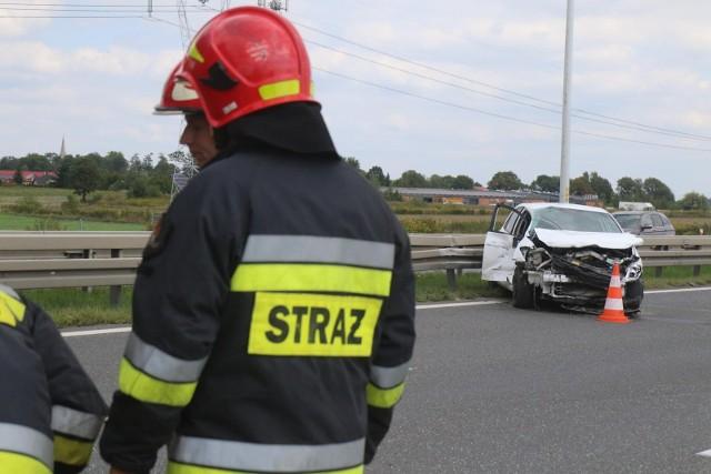 Groźny wypadek na A1 w pow. włocławskim. Na szczęście bez poszkodowanych.