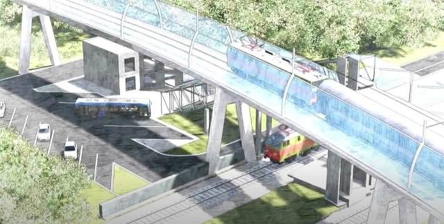 Tak może wyglądać łącznica kolejowa w Chabówce. Jej wstępna koncepcja pojawiła się w serwisie youtube.com