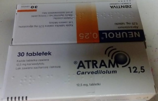 GIF prosi pacjentów o oddanie do aptek leku kardiologicznego Atram