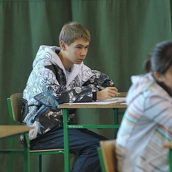 Paweł Bagrec z trzeciej klasy Gimnazjum nr 20 w Gorzowie nie bał się próbnego egzaminu z języka niemieckiego. - Przecież od tego wyniku jeszcze nic nie zależy - mówi chłopak.
