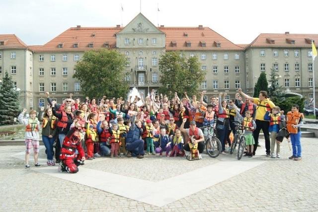 Przedsezonowy flash mob w Szczecinie