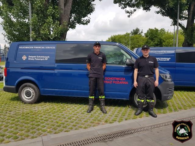 Strażacy z podkrakowskich Rusocic otrzymali samochód volkswagen transporter T6. Jest  ubezpieczony  i objęty obsługą serwisową oraz wyposażony w karty paliwowe