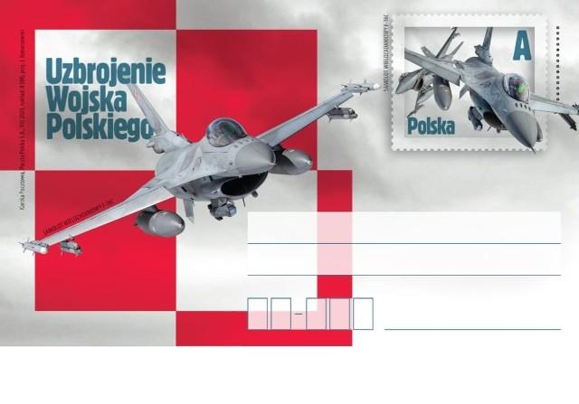 Tak prezentują się kartki pocztowe z myśliwcami F-16.