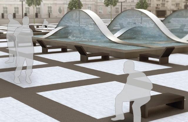 Zwycięski projekt fontanny na placu Nowy Targ