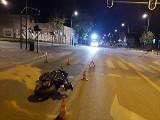 Wypadek motocyklisty na ul. Wólczańskiej. Kierujący suzuki był nietrzeźwy