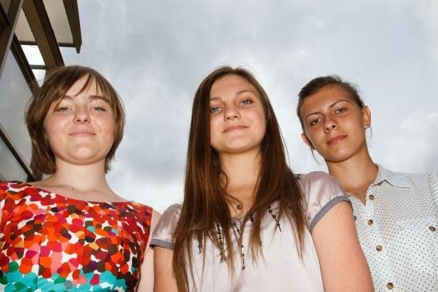 Szczęśliwe laureatki konkursu: Kasia Milewska (od lewej), Aneta Halicka i Marta Zdancewicz.