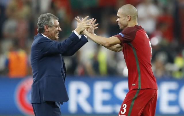 Trener Fernando Santos i Pepe