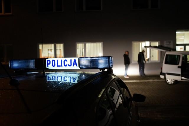Siedziba firmy kurierskiej, na ul. płk. Dąbka w Krakowie, na którą napadli bandyci.