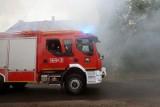 Pożar stodoły w Osieczku w gminie Książki w powiecie wąbrzeskim
