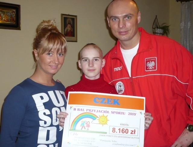 Od lewej: Marzena Sołtysiak, Dominika Felczak i Daniel Sołtysiak.