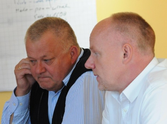 Prezes San-Budu Wojciech Pawlik i naczelnik do spraw inwestycji Paweł Urbański twierdzą, że nie prowadzą wojny, ale brak porozumienia w wielu kwestiach jest aż nadto widoczny. Czy konflikt skończy się w sądzie?  (fot. Mariusz Kapała)