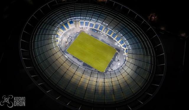 Nocna iluminacja Stadionu Śląskiego
