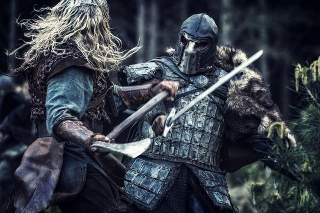 Kadr z filmu - Saga Wikingów.